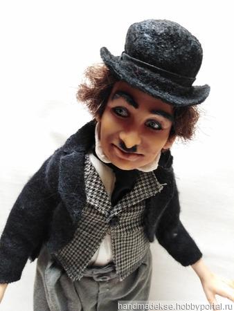 Коллекционная кукла Чарли Чаплин ручной работы на заказ