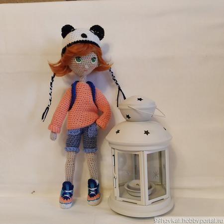 Кукла девочка-подросток Панда ручной работы на заказ
