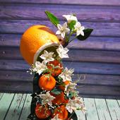 Парящие  фруктовые кружечки