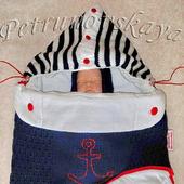 """Конверт """"Морячок"""" для новорожденных"""