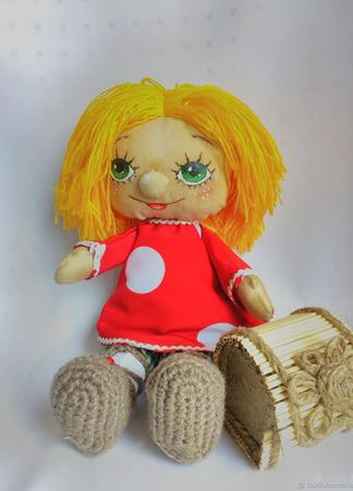 Кукла текстильная домовенок Кузя ручной работы на заказ
