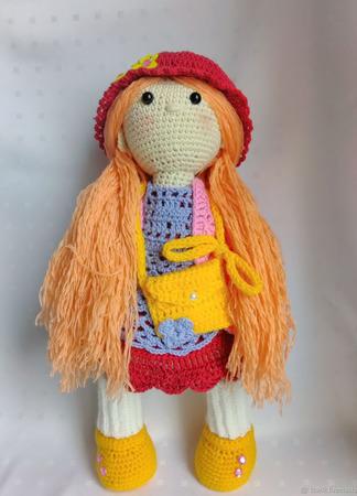 Кукла вязанная крючком ручной работы на заказ