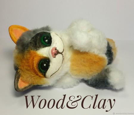 Игрушка Рыжий кот ручной работы на заказ