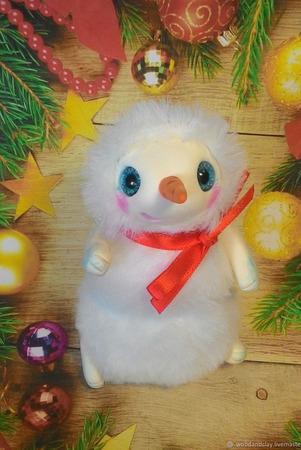 Снеговик игрушка ручной работы на заказ