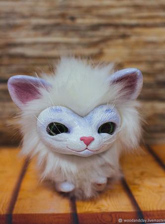 Игрушка Милый котик ручной работы на заказ