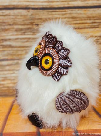 Игрушка Полярная сова в смешанной технике ручной работы на заказ