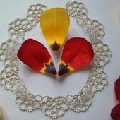 """Кружевной воротник """"Бежевые цветы"""" с бисером"""