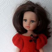 Вязаное платье для куклы Паола Рейна
