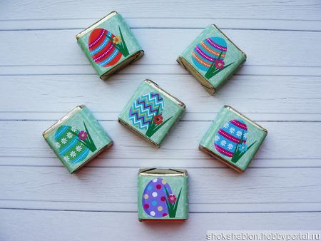 Шаблон в электронном виде на 6 конфет Птичье молоко ручной работы на заказ