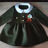 Военное платье: для девочки