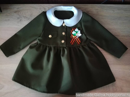 Военное платье для девочки ручной работы на заказ