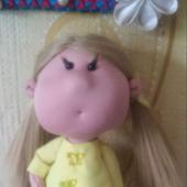 Интерьерная кукла щекастик