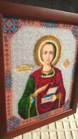 Икона Пантелеймон Целитель ручной работы на заказ