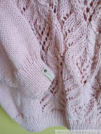 Стильный вязаный свитер с японским узором в Москве ручной работы на заказ