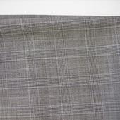Cерая костюмная ткань в крупную клетку (№13), отрезы