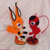 Мягкая игрушка Трикс квами лисы. Леди Баг и Супер Кот.