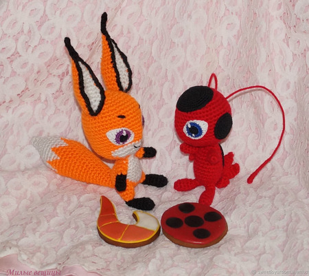 Мягкая игрушка Трикс квами лисы. Леди Баг и Супер Кот. ручной работы на заказ
