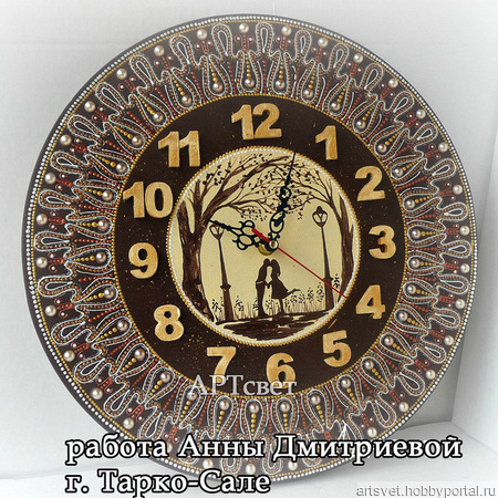 144 Основа для часов круглая. Заготовки для декупажа ручной работы на заказ