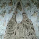 Летняя льняная сумка