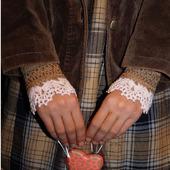 """Манжеты-браслеты-митенки в бохо стиле """"Нежный Шоко"""""""
