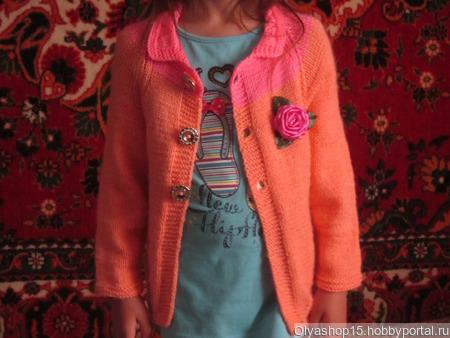 Кардиган для девочки ручной работы на заказ