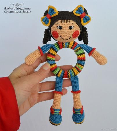 """Мастер-класс по созданию вязаной игрушки """"Девочка Полина"""" ручной работы на заказ"""