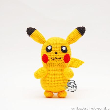 Покемон Пикачу вязаная игрушка ручной работы на заказ