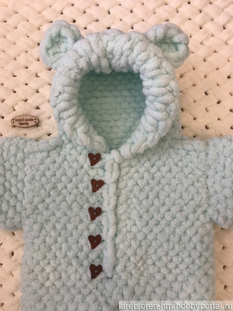 Комбинезон плюшевый для малыша ручной работы на заказ