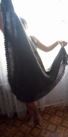 Королевская пуховая шаль ручной работы на заказ