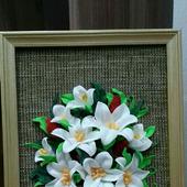 """Панно с цветами """"Белые лилии"""""""