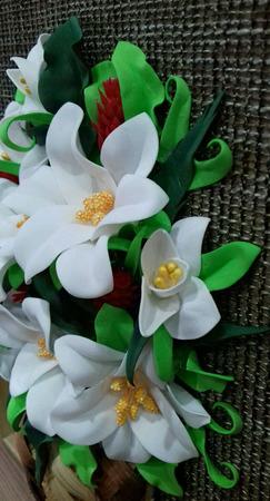 """Панно с цветами """"Белые лилии"""" ручной работы на заказ"""