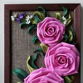 """Панно с цветами """"Розы"""""""