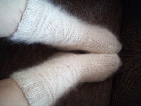 Пуховые носки женские ручной работы на заказ