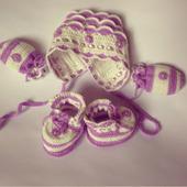 """Комплект для новорожденной вязаный """"Настенька"""""""
