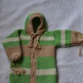 Спальный мешок-конверт для новорожденного вязаный