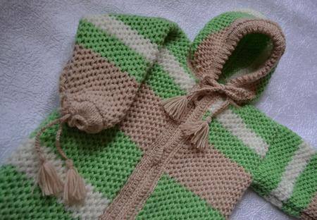 Спальный мешок-конверт для новорожденного вязаный ручной работы на заказ