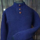 """Вязаный мужской свитер """"Поло"""""""