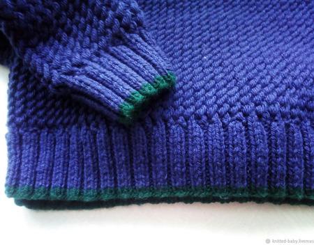"""Вязаный мужской свитер """"Поло"""" ручной работы на заказ"""