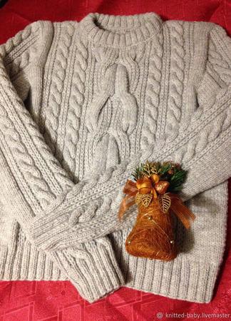 Джемпер (свитер)  женский ручной работы на заказ