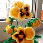фото: Цветы (акриловая пряжа)