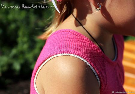 Описание с элементами обучения топа/туники/платья Pink ручной работы на заказ