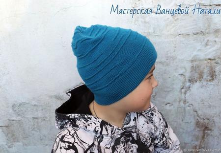 МК-описание молодежной шапки Mix (Микс) ручной работы на заказ