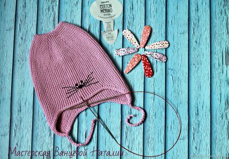 МК-описание для шапки с ушками Wrapper (Фантик) ручной работы на заказ