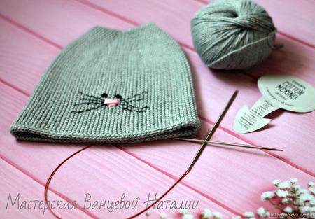 МК-описание по шапочке с кошачьими ушками Wrapper (Фантик) ручной работы на заказ