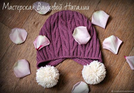 МК-описание шапочки с ушками Breeze (Ветерок) ручной работы на заказ