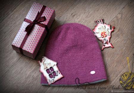 МК-описание двойной двухцветной двусторонней бесшовной шапки ручной работы на заказ