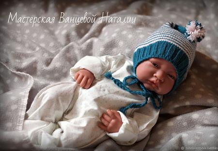 МК-описание чепчиков для новорожденных Sweet dreams (Сладкие сны) ручной работы на заказ