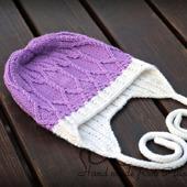 МК-описание шапочки с ушками Carving (Резьба)