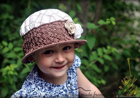 МК-описание комбинированной шляпки Vintage (Винтаж) ручной работы на заказ
