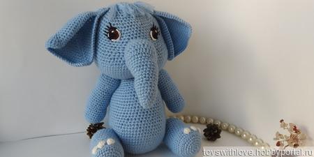 Милая слоняша с очаровательной улыбкой ручной работы на заказ